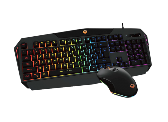 Meetion Rainbow Backlit Gaming Keyboard and Mouse C510