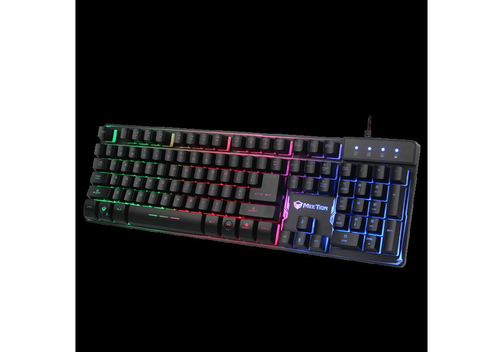 Meetion Colorful Rainbow Backlit RGB Gaming Keyboard K9300