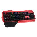 Meetion Mechanical Keyboard Anti-ghosting Multimedia Metal Blue Switch MK20- Red