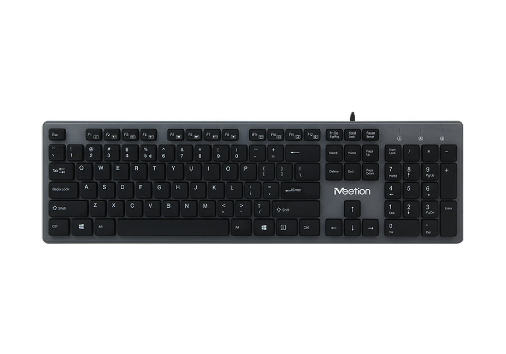 Meetion UltraThin USB Standard Chocolate Keyboard K841