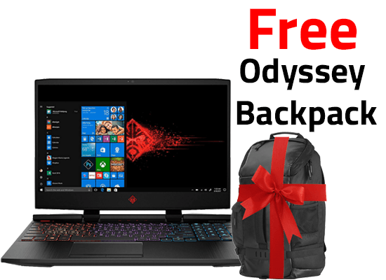 Laptop OMEN by HP - 15-dc0005ne   4K  RGB Keyboard  8th Generation + Free Backpack  HP Original