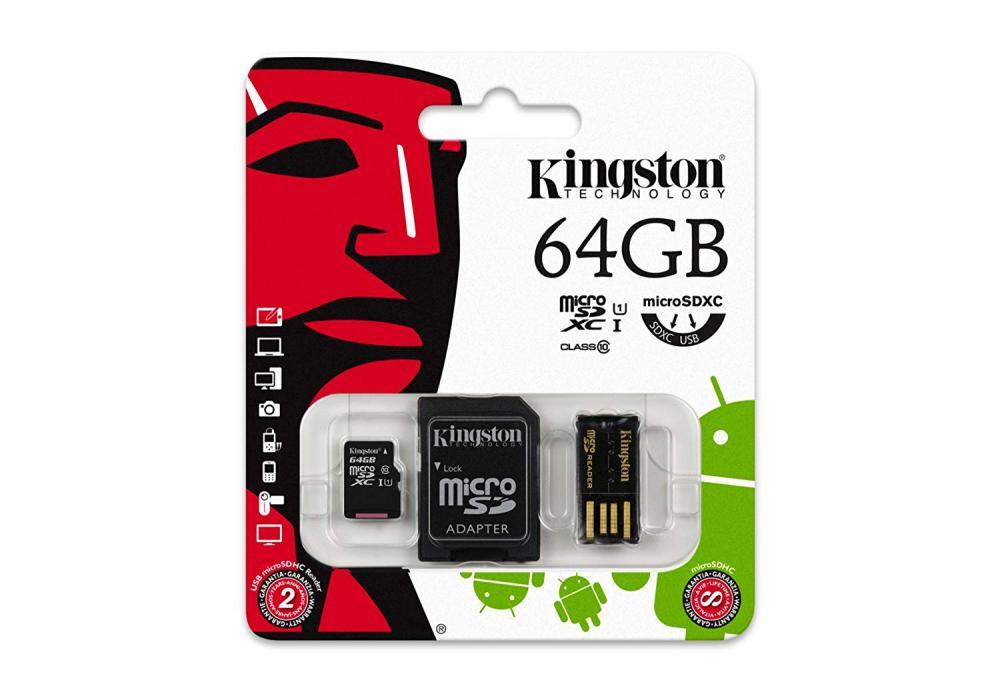 Kingston MicroSD Multi-Kit 64 GB With Reader