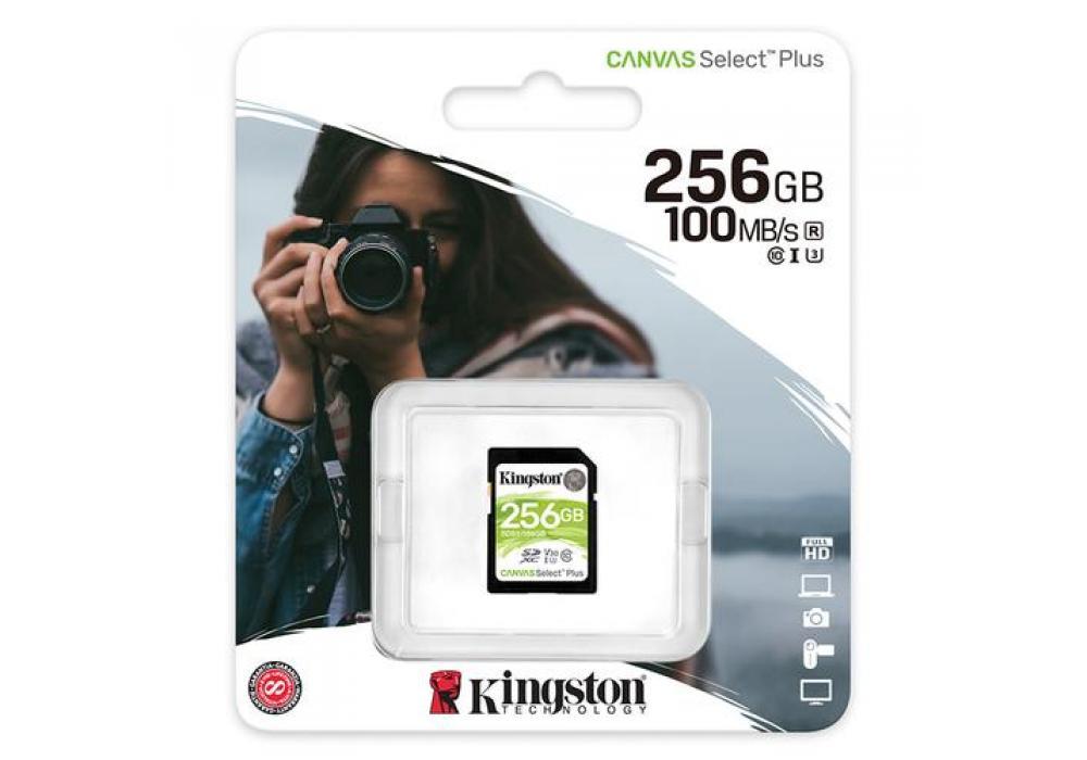 Kingston Memory Card 256GB SDXC Canvas Select Plus 100R C10 UHS-I U3 V30
