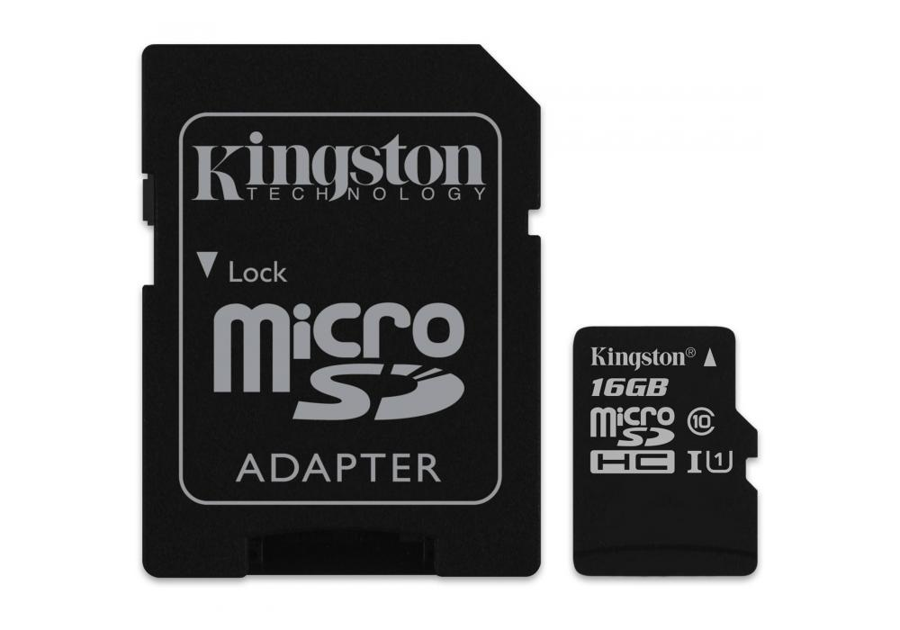 Kingston microSD 16GB + SD Adapter / Canvas Select