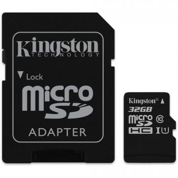Kingston microSD 32GB + SD Adapter