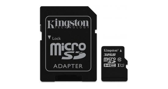 Kingston microSD 32GB + SD Adapter