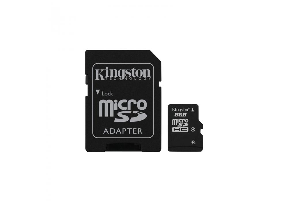 Kingston microSD 8GB + SD Adapter