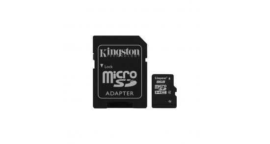 Kingston microSD 8GB + SD Adapter