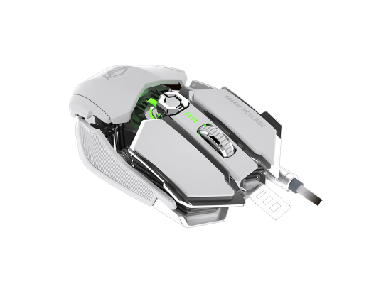 Meetion RGB Programmable Gaming Mouse Wired M990S White