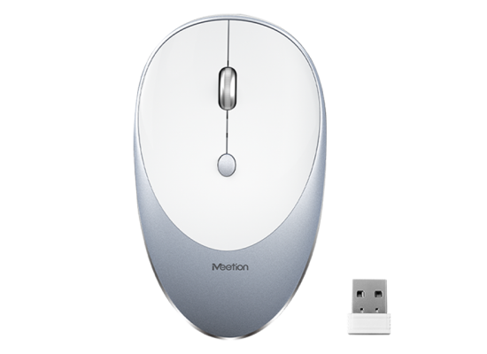 Meetion Wireless Mouse  Slim Rechargeable Silent R600- Space Gray