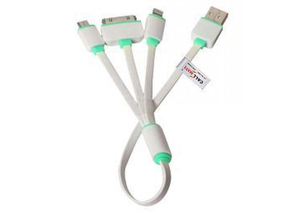 3 in 1 Multi Pin Cable White