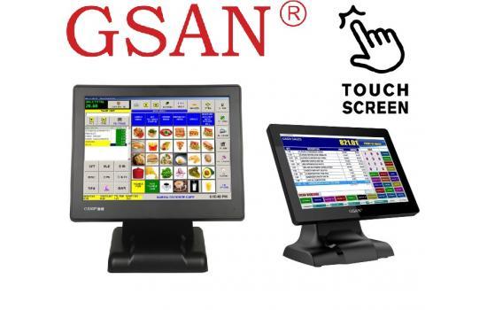 "GSAN GS-1530II 15"" Black Touchscreen Monitor"