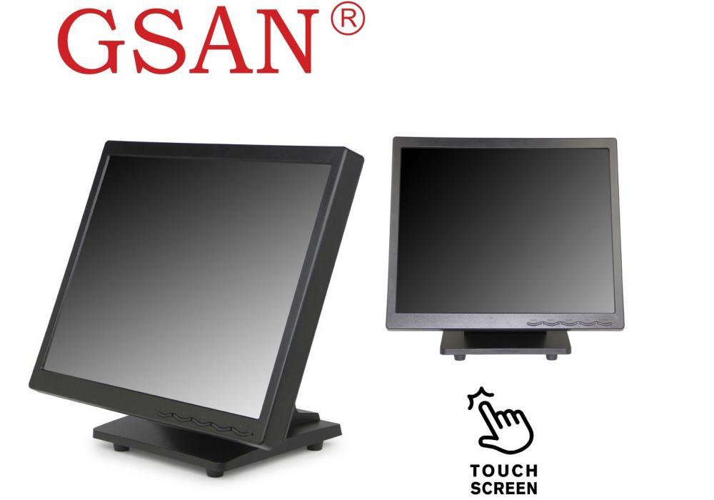 "GSAN GS-170A 17"" Black Touchscreen Monitor"