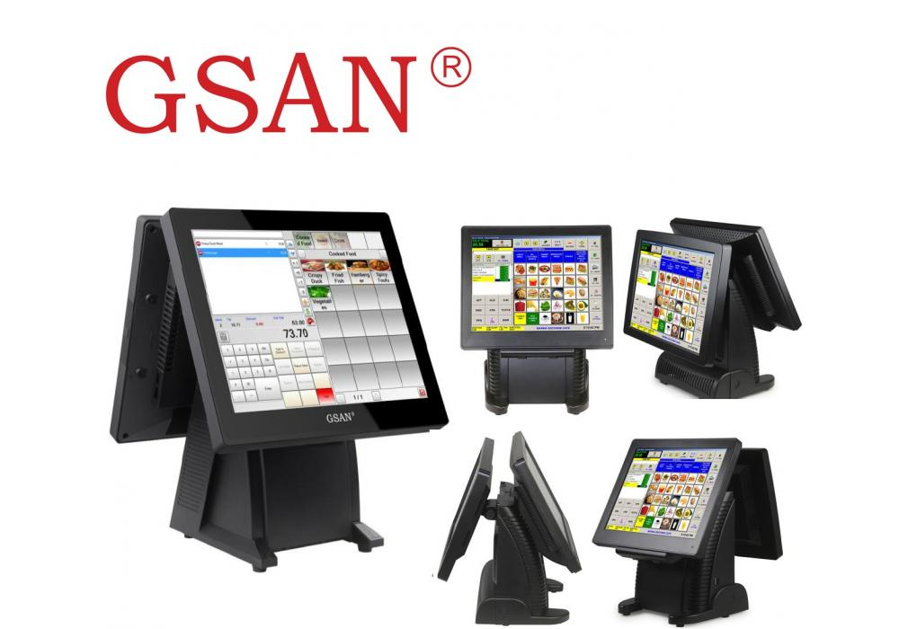 GSAN GS-T3 Dual Screen Touch  POS system - All in one Quad Core